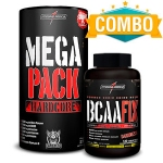 Mega Pack Hardcore - 30 Packs + BCAA Fix 120 Tabletes - Integralmédica