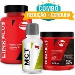 Combo Redução de Gordura Vitafor - Óleo de coco MCT Refinado 500 ml + Lipix Plus 120 Cápsulas + Termo Plus Laranja 300g