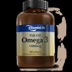 Ômega 3 ( Óleo de Peixe ) 1000mg - VitaminLife - 200 Cápsulas
