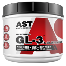 GL3 L-Gutamine Micronized (525G) - AST Sports Science