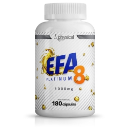 EFA 8 Platinum 1000mg (180 cápsulas) - Physical Pharma