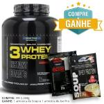 3 Whey Protein Chocolate Probiótica - 2.268 g e Ganhe Amostras (Soup e Iso Pro)