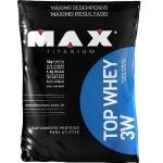 Top Whey 3W Max Titanium Morango (Refil) - 1,8Kg