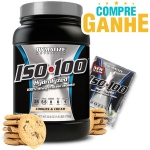 Whey Protein Hydrolized Iso 100 Dymatize - Cookies - 732g (Val 04/2018) e Ganhe 1 Unidade de amostra ISO 100