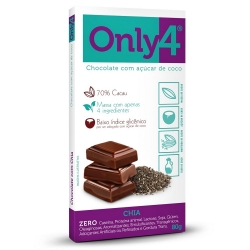 Chocolate com Açúcar de Coco - Only 4 - 80g