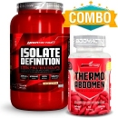 Isolate Definition + Thermo Abdomen - Body Action - 120 Cápsulas