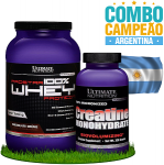 Combo campeões: Argentina - Prostar Whey Protein - 907g + Creatina (300g) - Ultimate Nutrition