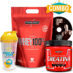 Combo Super Whey 100% Pure + Creatina 300g Integralmédica