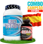 Combo campeões: Espanha - 1 Bio Whey Protein (909g) + BCAA Science 2000 (100 Tabletes) Performance Nutrition