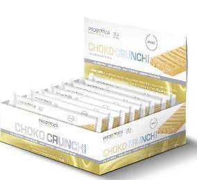 Barra Choco Crunch - Chocolate Branco - Probiótica - 40g (1 Caixa - 12 unidades)