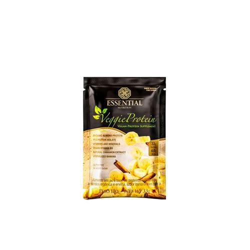 Veggie Protein 1 sabor banana c/ canela Sachê de 33g-  Essential