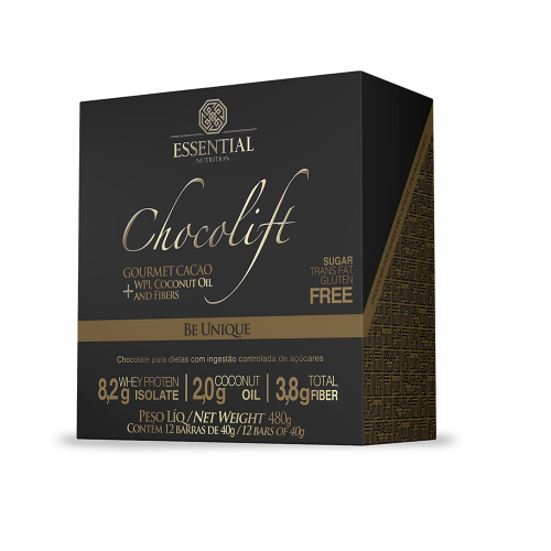Chocolift Be Unique - Essential - 40g - 12 Unidades