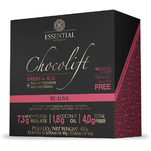 Chocolift Be Alive (Caixa c/ 12 unidades de 40g) - Essential