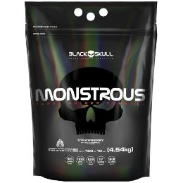 Monstrous Gainer - Black Skull - Morango - 4,5Kg