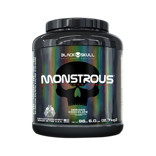Monstrous Gainer Sabor Amendoim - (2,7Kg) - Black Skull