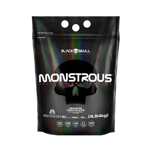 Monstrous Gainer - Black Skull (REFIL) - Baunilha - 4,5Kg
