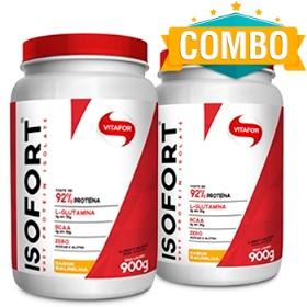Isofort (Whey Protein Isolate) - Bio Protein - Vitafor Baunilha 900g - 2 Unidades