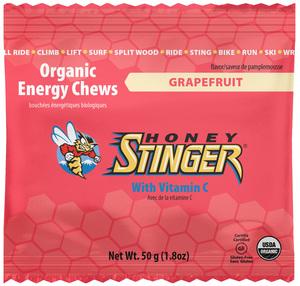 Organic Energy Chews - Honey Stinger - Grapefruit - 10 balas de goma - pack de 50g (Val. 05/2018)
