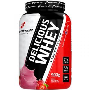 Delicious Whey 4 Protein Premium 900g - Milkshake de Morango