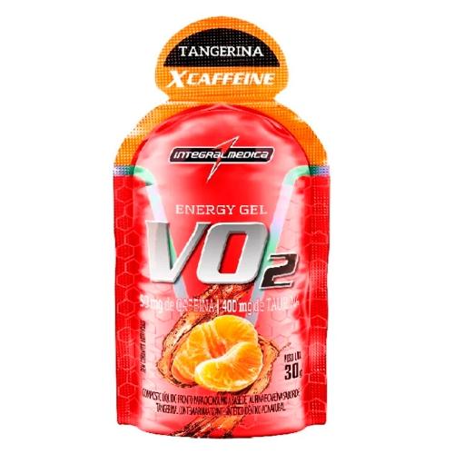 VO2 Energy Gel XCAFFEINE Sabor Tangerina (1 Unidade de 30g) - Integralmédica