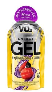 VO2 Energy Gel XCAFFEINE - Integralmédica - 30g - Guaraná com Açaí