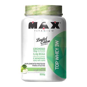 Top Whey 3W Sabor Maçã Verde (900g) - Max Titanium
