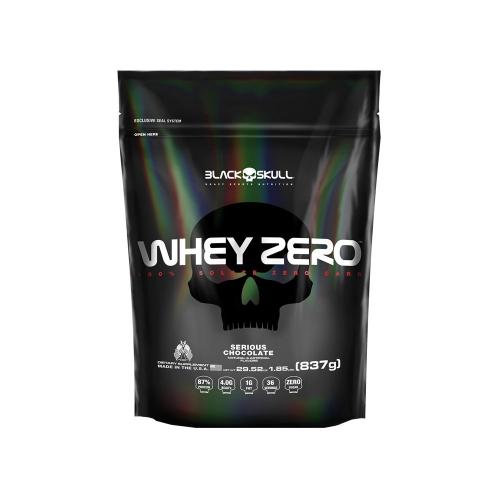 Whey Zero - Black Skull - Morango - 837g (Refil)