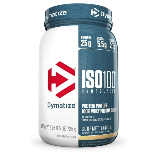 Whey Protein Hydrolized Iso 100 Sabor Chocolate c/ Coco (726g) - Dymatize