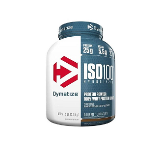 Whey Protein Hydrolized Iso 100 Sabor Chocolate c/ Coco (2,57Kg) - Dymatize