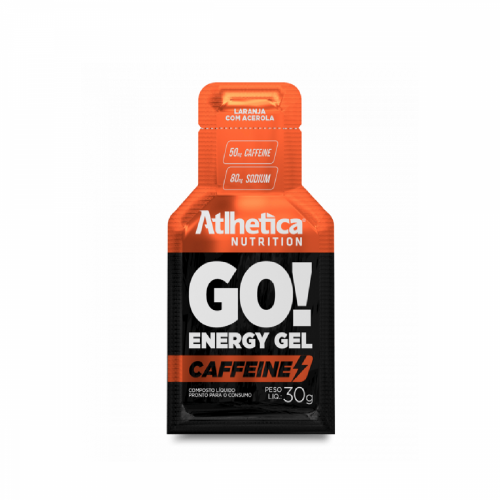 Go Energy Gel Caffeine- Atlhetica - Laranja com Acerola - 30g