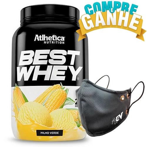 Compre Best Whey Sabor Milho Verde (900g) e Ganhe Camiseta Best Whey - Atlhetica Nutrition
