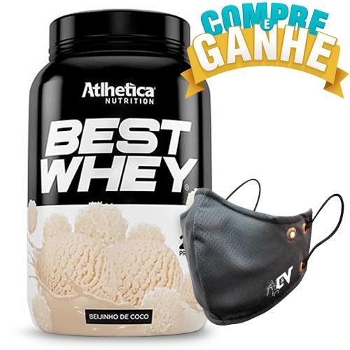 Compre Best Whey Sabor Beijinho de Coco (900g) e Ganhe Camiseta Best Whey - Atlhetica Nutrition