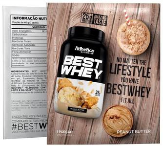 Best Whey  Sabor Amendoim (35g Sachê) - Atlhetica Nutrition