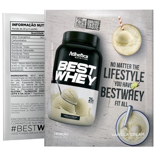 Best Whey  Sabor Baunilha (35g Sachê) - Atlhetica Nutrition