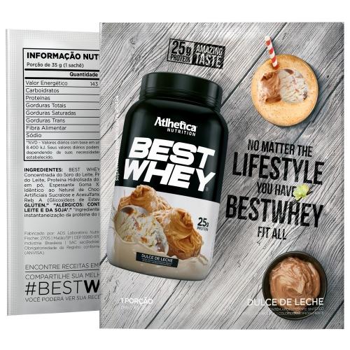 Best Whey Sabor Doce de Leite (35g Sachê) - Atlhetica Nutrition