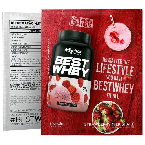 Best Whey Sabor Morango (35g Sachê) - Atlhetica Nutrition