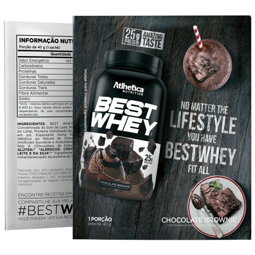 Best Whey Sabor Chocolate Brownie (35g Sachê) - Atlhetica Nutrition