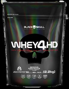 Whey 4 HD Sabor Morango (2,2 Kg Refil) - Black Skull