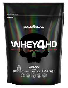 Whey 4 HD Sabor Chocolate (2,2 Kg Refil) - Black Skull