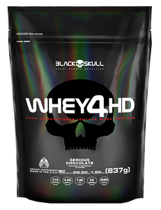 Whey 4 HD - Black Skull - Chocolate - 837g (Refil)