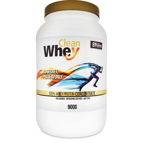 Clean Whey Concentrada - 900g - Cacau Belga