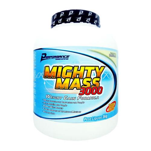 Migthy Mass 3000 Sabor Baunilha (3kg) - Performance Nutrition
