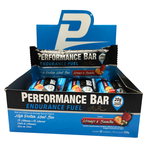 Performance Bar Endurance Fuel Performance - Cheescake & Morango - 12 unidades