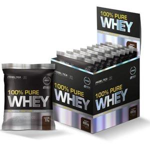 100% Pure Whey 1 Cx C/ 15 Unidades - Baunilha - Probiótica