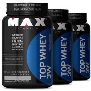 Top Whey 3W Max Titanium (3 Unidades 900g)