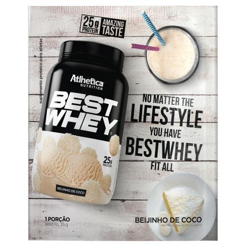 Best Whey Sabor Beijinho de Coco (35g Sachê) - Atlhetica Nutrition