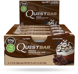 Quest Bar - Protein Bar - 1 Caixa ( 12 Unidades) - Mocha Chocolate Chip