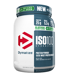 Iso 100 Dymatize - Natural chocolate - (Stevia) - 2,3Kg