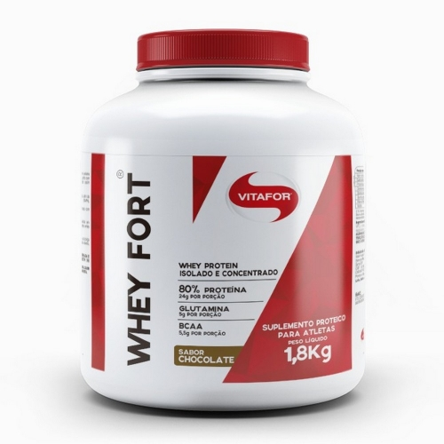 Whey Fort - Vitafor - Chocolate - 1,8kg