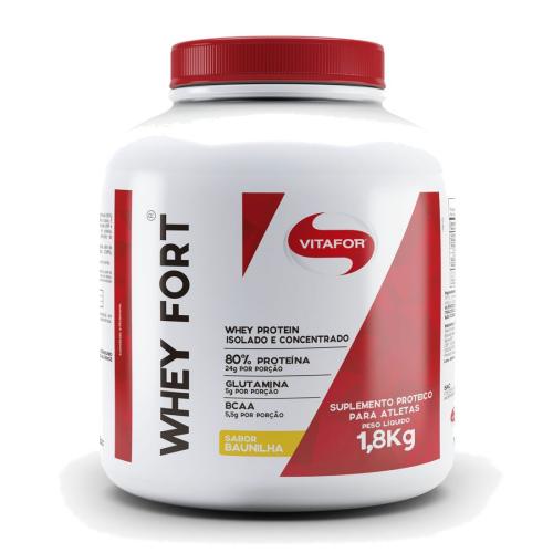 Whey Fort Sabor Baunilha (1,8kg) - Vitafor